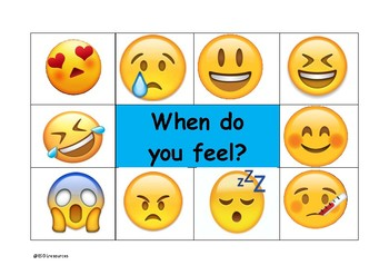 Feelings Speaking Board with emojis