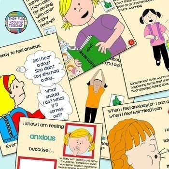 When I Feel Anxious lesson starring girls   Distance Learning