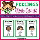 Social Emotional Lessons: Feelings Task Cards