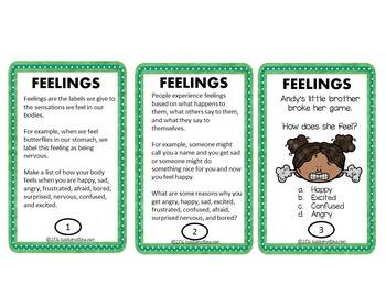 Social Emotional Lessons: Feelings Task Cards