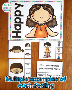 Feelings Task Cards and Posters {Special education Resource}