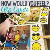 Feelings Task Cards for School Counseling Centers Identify Feelings Clip Cards