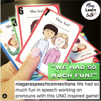 Social Skills: Feelings - Uno Inspired Game