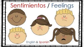 Feelings Visuals - English and Spanish
