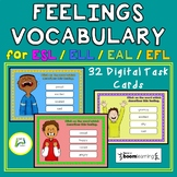 Feelings Vocabulary Boom Distance Learning Task Cards for