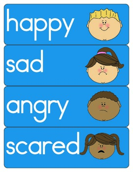 Feelings Vocabulary Cards - Social & Emotional Development