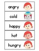 Feelings Vocabulary Cards & Write the Room