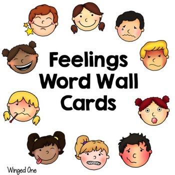 Feelings or Emotions Word Wall Cards Vocabulary