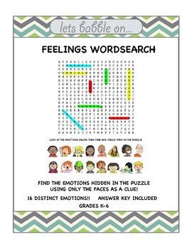 Feelings Wordsearch - Free