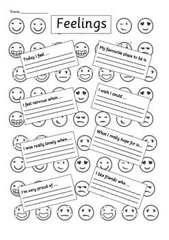 660 FREE ESL Feelings, emotions worksheets