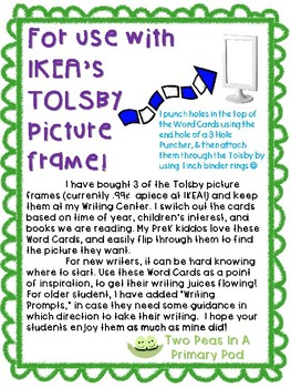 Feelings and Emotions Writing Prompt Word Cards for IKEA TOLSBY frames