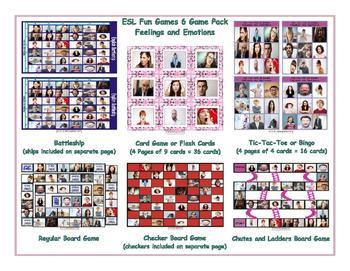 Feelings and Emotions 6 Board Game Bundle