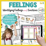 Identifying Feelings and Emotions Activities | Worksheets & No print Game