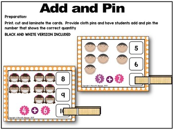 Feelings and Emotions- Add and Pin Task Cards- Math Center Activity