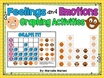 Feelings and Emotions- GRAPHING- Math Center Activity