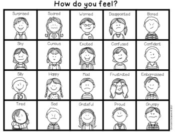 Feelings and Emotions Student Charts