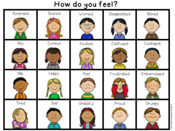 Feelings And Emotions Student Charts 3199748 on Character Education Worksheets