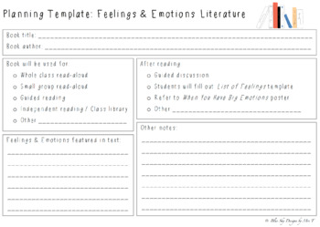 Feelings and Emotions Book List for Classrooms