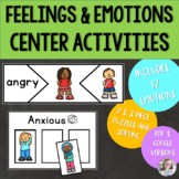 Feelings and Emotions Center & Digital Learning Activities