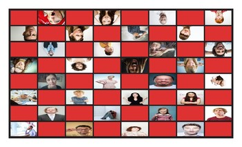 Feelings and Emotions Legal Size Photo Checkerboard Game