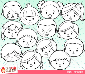 Feelings and Emotions Clip Art - Faces