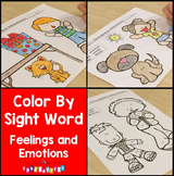 Feelings and Emotions Color By Sight Words