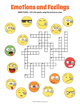 Feelings and Emotions Crossword Puzzle
