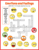 FEELING AND EMOTIONS Crossword Puzzle Worksheet Activity