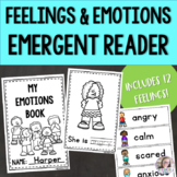 Feelings and Emotions Emergent Reader with Word Wall Cards