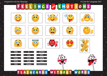 Feelings and Emotions - English Flashcards