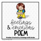 Feelings and Emotions Poem (Freebie)