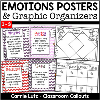 Feelings and Emotions ~ Posters with Definitions and Examples ~ Venn Diagrams