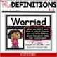 Feelings and Emotions ~ Posters with Definitions and Examp