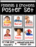 Feelings and Emotions Poster Set with Real People (37 pages)