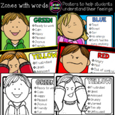 Feelings and Emotions ZONES Posters with words