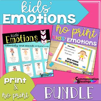 Feelings and Emotions Printables and No Print Bundle