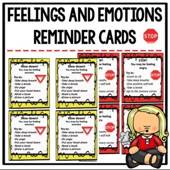Feelings and Emotions Reminder and Strategy Reward Cards