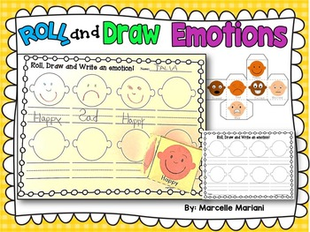 Feelings and Emotions- Roll and Draw- Literacy- Feelings V