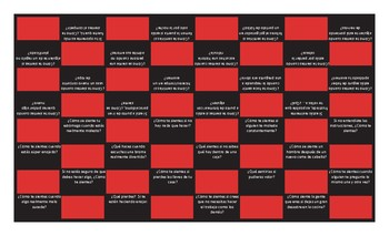 Feelings and Emotions Spanish Checker Board Game