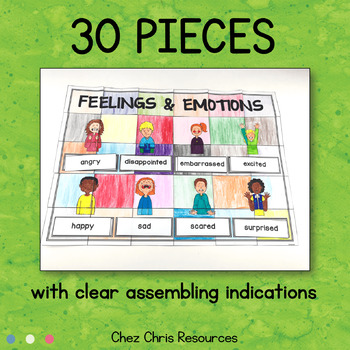 Feelings and Emotions Vocabulary - A Collaborative Poster