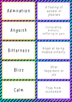 Feelings and Emotions Cards - Set of 45