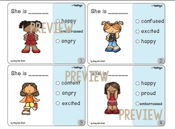 Feelings and Emotions Vocabulary Pack for ESL students and Young Learners