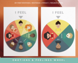Feelings and Emotions Wheel Poster (Letter Size)