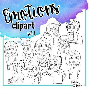 Feelings and Emotions clipart set 1 Bundle
