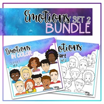 Feelings and Emotions clipart set 2 Bundle