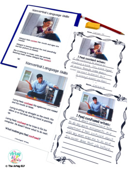 Social Skills Feelings and Emotions for Teens {Real Photos and No Prep}