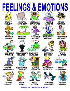 Feelings and Emotions for Writing and Reading Classrooms