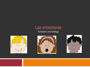 Feelings and Emotions in Spanish PowerPoint