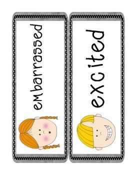 Feelings and Emotions- word wall cards & feelings spinners