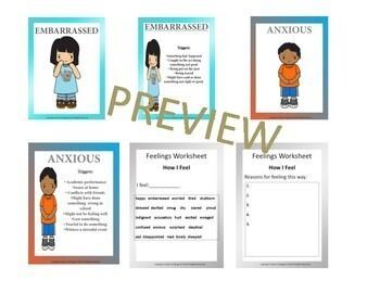 Feelings and Self-Esteem Affirmation Flash Cards Bundle
